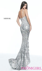 SELLING: Sherri Hill 51206 Silver Dress