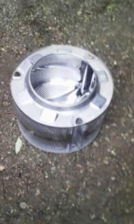 Washing machine Reclaimed Stainless Steel Drum. Firepit Furniture