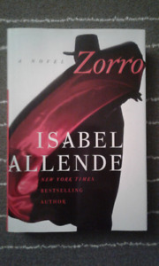 ZORRO by Isabel Allende Hardcover Novel (FIRST EDITION)