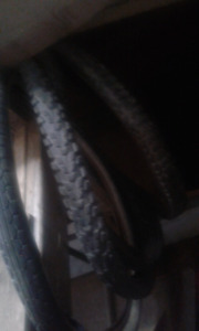 mountain bike tires and runs for sale $5 a piece obo