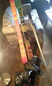 Skis, boots, bindings, poles & ski bag.