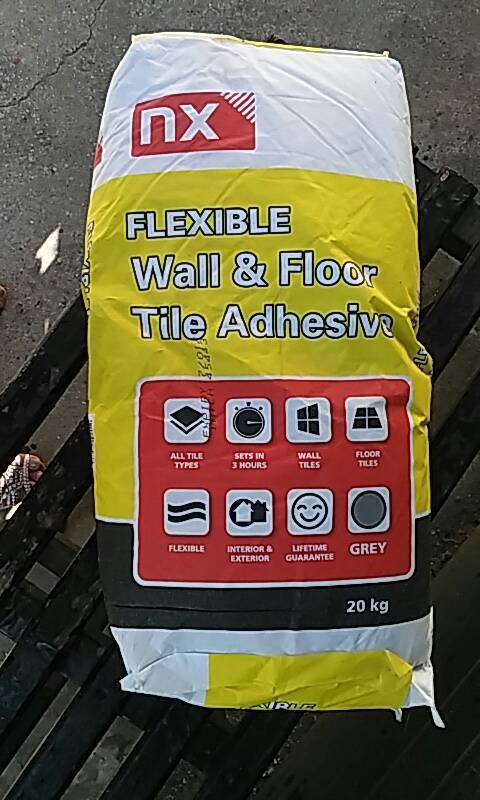 Flexible Wall And Floor Tile Adhesive 2 Bags In Jarrow Tyne And