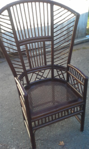 Bamboo and Wicker Chair
