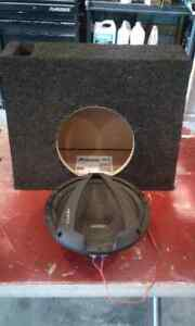 "10"" Subwoofer and 10"" shallow box"