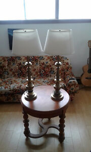 Vintage electric brass lamps