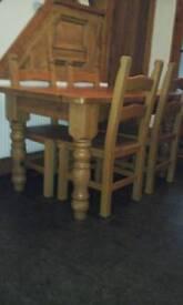 Chunky farmhouse kitchen table