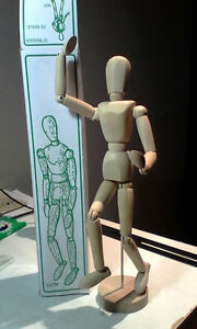 Posable 30cm Wooden Art Mannequin