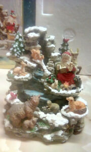 FESTIVE TABLETOP CHRISTMAS FOUNTAIN. NEW IN BOX