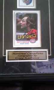 Autographed hockey cards