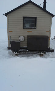 Ice Hut with outhouse