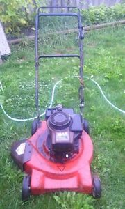 Gas lawnmower $ 30, 3.5hp, 1 CABLE LOOSE