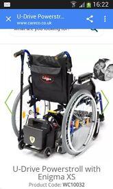 Enigma wheelchair with U-Drive