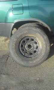 4 TIRES AND RIMS 6 BOLT