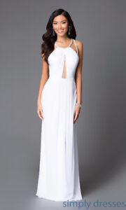 Abbie Von Backless Keyhole Formal Long Gown