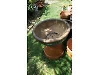 Large round glazed garden planter