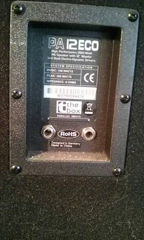 Pair of thomann pa speakers 8 ohm, peak 280w | in Exmouth, Devon | Gumtree