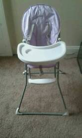 Purple flower highchair