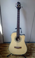 Stagg Electro-Acoustic Cutaway Bass Guitar with 4-Band EQ