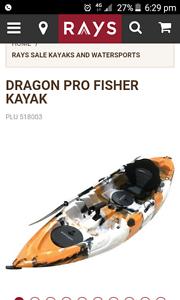 Dragon pro fishing kayak Salisbury South Salisbury Area Preview