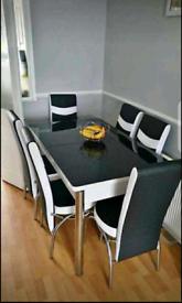 New plain black dinning table