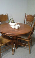 Dining Room set with chairs and extension leaf