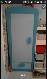 blue children's IKEA wldrobe
