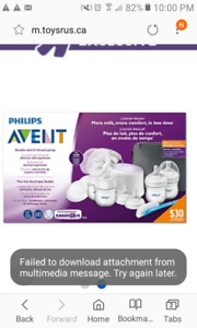 BRAND NEW NEVER OPENED PHILIPS AVENT DOUBLE ELECTRIC BREAST PUMP