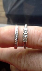 Wedding Ring And Band Set For Sale