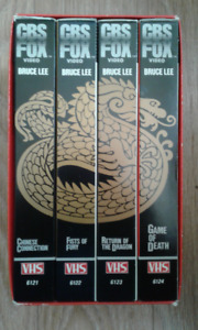 VHS Box Sets - Bruce Lee 4 Tape CBS + 2 Tape Boxing Series set