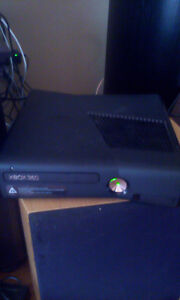 Xbox 360 slim with 250gb hard drive with 18 games