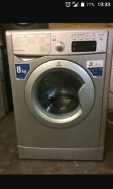8kg indesit washing machine (silver)