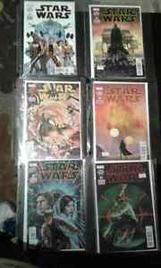 Star Wars #1-6 Marvel comics. Darth Vader,Princess Leia, Chewy,H