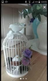 Bird cadge table centure peice x6