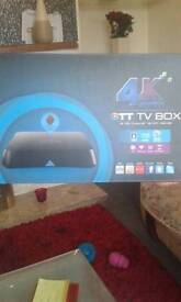 4k tv box fully loaded ready to go all latest films all sports. And more
