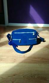 Kipling bag with monkey, purple blue colour