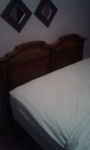queen headboard and mathcing night stand