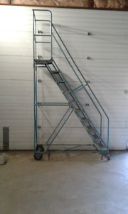 10 Step Rolling Safety Ladder for sale