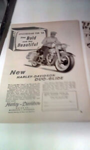 5 Harley original ads 50s and60s