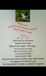 Renfrew Poultry and Small Animal Buy/Sell/Trade