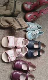 Girls shoes bundle 8-9.5 Inc clarks