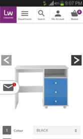 Desk with BLACK drawers