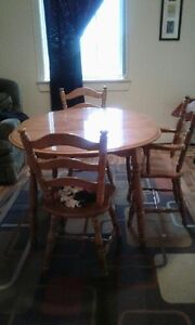 Dining Table, with Inserts and Chairs - Need sold ASAP