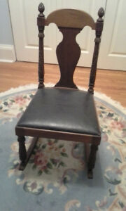 Antique nursing / sewing rocking chair