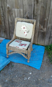 old wicker chair