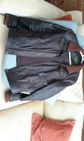 Ladies 'HydePark' brown real leather jacket size 12/14