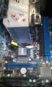 3.2GHz AMD Phonem II 840 Quadcore processor. MSI 785GM-P45 MB