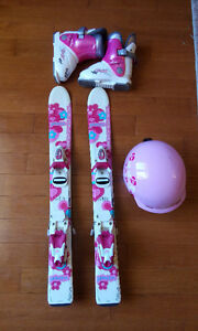 Girls Ski Package  -skis, boots, helmet - Age 3-4