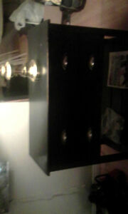 Quick sale beautiful black shelving unit