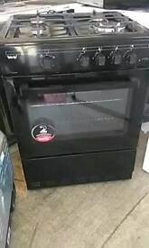 (ex display) Teknix TKGF60BL 60cm Gas Cooker - Black
