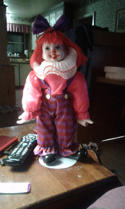 Ceramic clown with stand